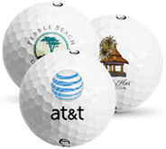 3 Golf Balls With Custom Logos