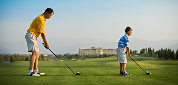 father-son-golf