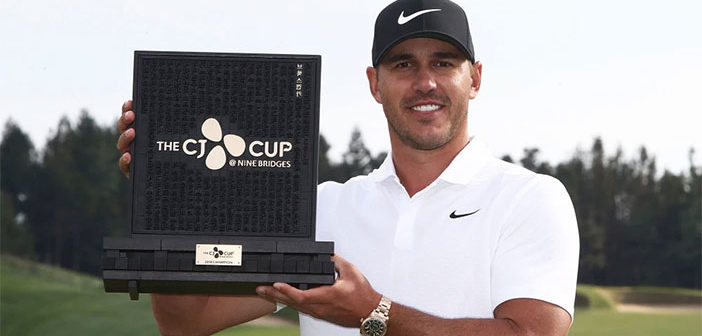 Brooks Koepka CJ Cup Champion