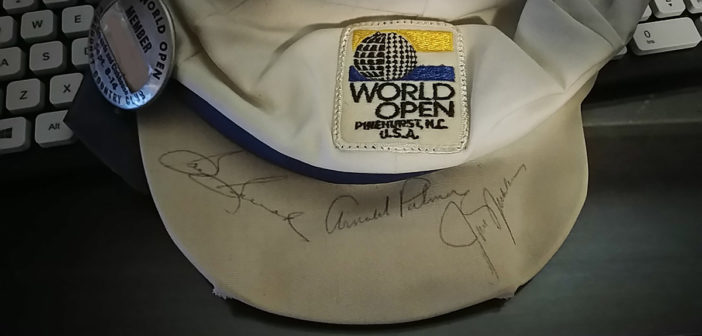 1973 World Open Hat Signed By Arnold Palmer, Jack Nicklaus and Sam Snead