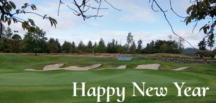 Washington National Hole 18 - Happy New Year!