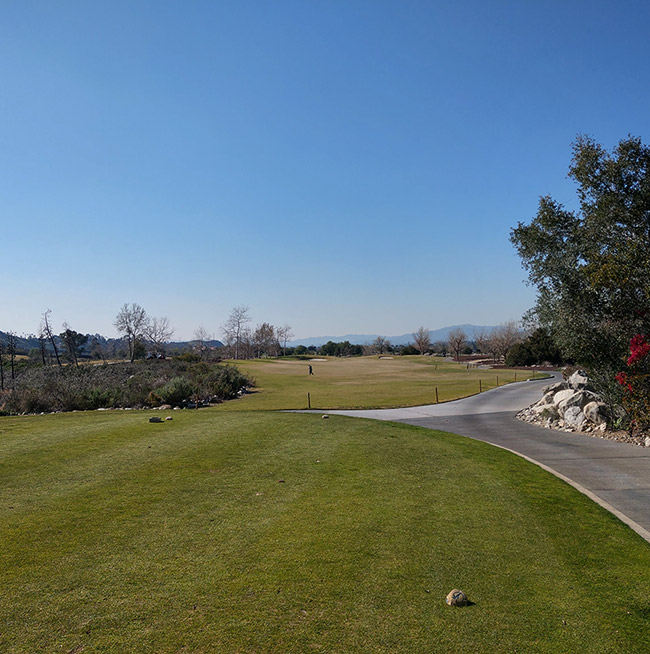 A hole on the front nine at Angeles National Golf Course