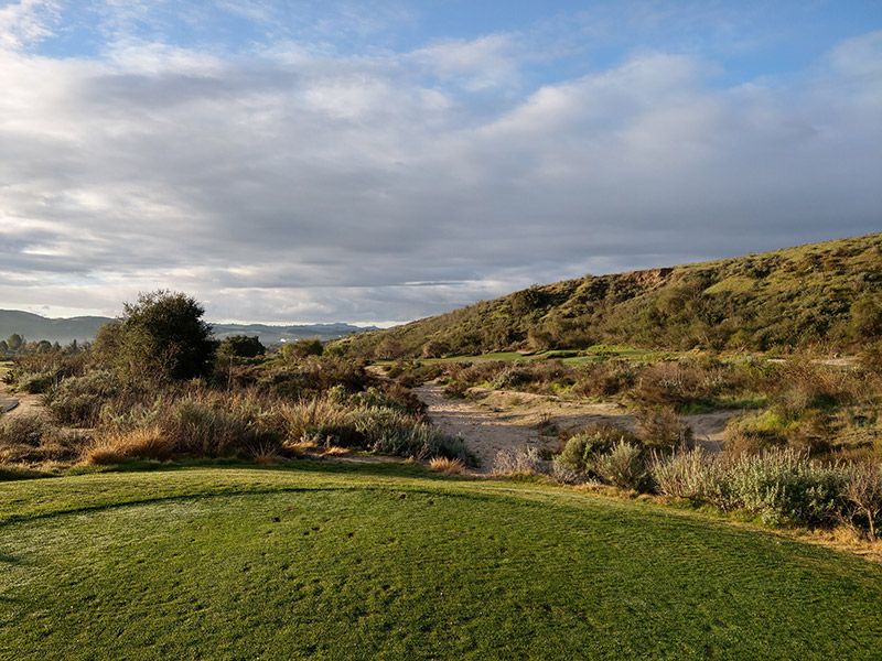 Holes Carved into the natural surroundings at Rustic Canyon Golf Course
