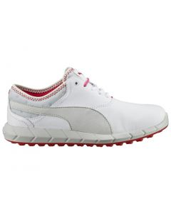 Puma Women's Ignite Spikeless Golf Shoes White/Glacier Grey