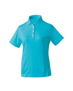 FootJoy Women's ProDry Performance Solid Interlock Polo Aqua