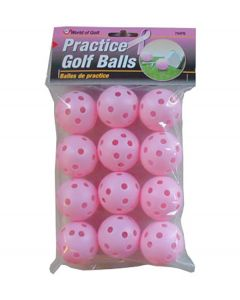 JEF World of Golf Pink Practice Golf Balls