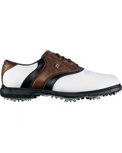 FootJoy FJ Originals Golf Shoes White/Dark Brown/Black