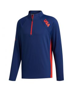 Adidas 2021 Usa Olympic Midweight Pullover Front