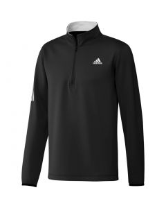 Adidas Stripe Midweight Layering Pullover Black Grey Three