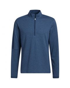 Adidas 3 Stripe Quarter Zip Layering Crew Navy