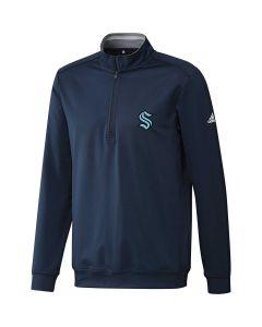 Adidas Classic Club Seattle Kraken Quarter Zip Pullover