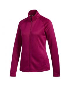 Adidas Fw20 Womens Textured Jacket Power Berry