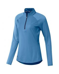 Adidas Fw20 Womens Upf50 Longleeve Polo Light Blue