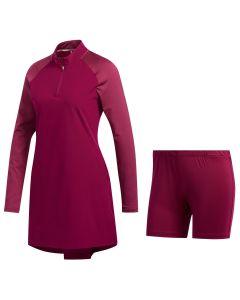 Adidas Fw20 Womens Upf50 Longsleeve Dress Power Berry Front