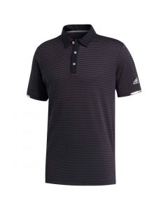 Adidas Heat Rdy Striped Polo Shirt Black Carbon Front