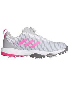 Adidas Juniors Codechaos BOA Golf Shoes Grey/Pink