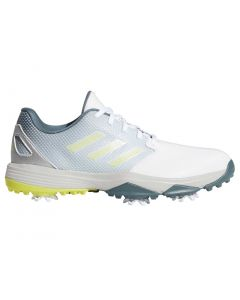 Adidas Juniors Zg21 Golf Shoes White Acid Yellow Profile