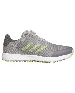Adidas S2g Boa Golf Shoes Grey Two Solar Yellow Profile