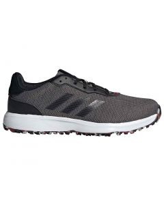 Adidas S2g Golf Shoes Black White Profile