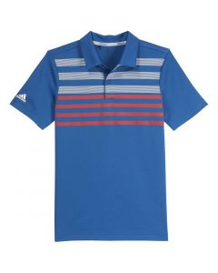 Adidas SS19 Boys Chest Stripe Fashion Polo Dark Marine