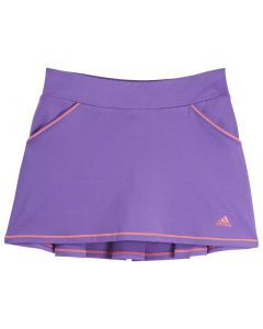 Adidas SS19 Girls Solid Back Pleat Skort Active Purple