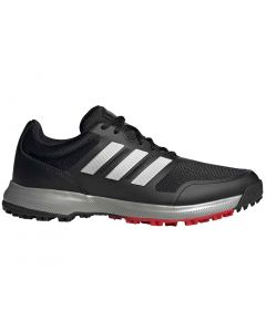 Adidas Tech Response Sl Golf Shoes Black Silver Profile