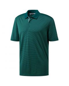 Adidas Ultimate365 2-Color Stripe Polo Noble Green