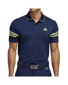Adidas Ultimate365 3-Stripe Polo Collegiate Navy/Solar Yellow