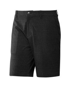 Adidas Ultimate365 Plaid Print Shorts Black