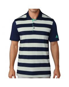 Adidas Ultimate365 Rugby Stripe Polo Navy/Green