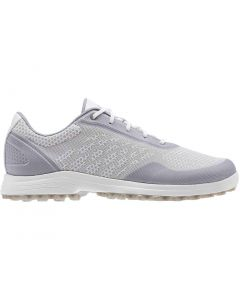 Adidas Womens Alphaflex Sport Golf Shoes White Glory Grey Profile