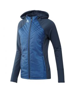 Adidas Womens Hybrid Quilted Jacket Crew Navy Front