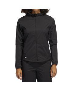 Adidas Womens Provisional Rain Jacket Black Front