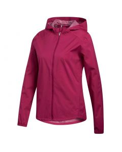 Adidas Womens Provisional Rain Jacket Power Berry Front