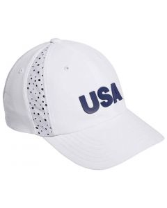 Adidas Womens Usa Performance Hat White  Front