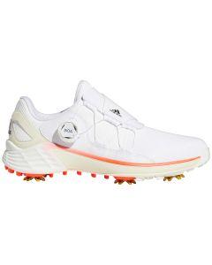 Adidas Womens Zg21 Tokyo Boa Golf Shoes White Black Red Profile