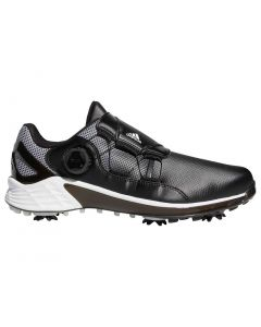 Adidas Zg21 Boa Golf Shoes Black White Profile