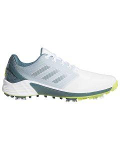 Adidas Zg21 Golf Shoes White Acid Yellow Profile