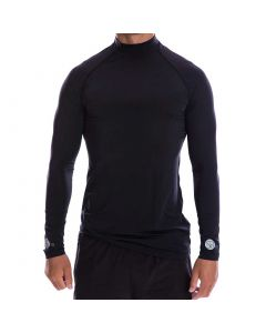 Apaprel Sparms Sp Body High Neck Sun Shirt Black