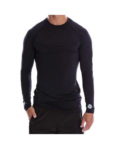 Apaprel Sparms Sp Body Round Neck Sun Shirt Black