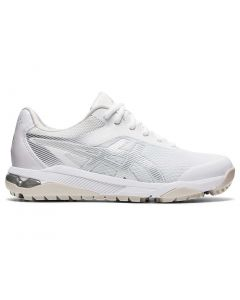 Asics Womens Gel Course Ace Golf Shoes White Pure Silver Profile