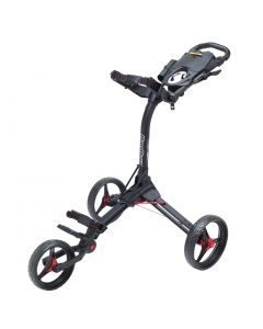 BagBoy Compact 3 Push Cart Matte Black/Red
