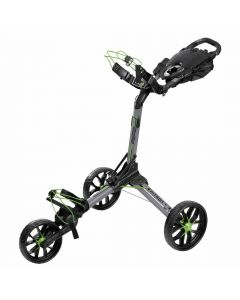BagBoy Nitron Auto-Open Push Cart Grey/Lime