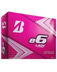Bridgestone Women's e6 Lady Pink Personalized Golf Balls