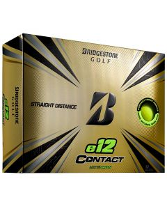 Bridgestone E12 Contact Matte Green Golf Balls Lid