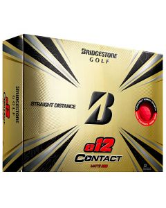 Bridgestone E12 Contact Matte Red Golf Balls Lid