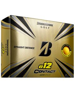 Bridgestone E12 Contact Matte Yellow Golf Balls Lid