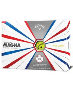 Callaway Supersoft MAGNA Yellow Personalized Golf Balls