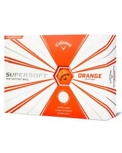 Callaway Supersoft Matte Orange Personalized Golf Balls