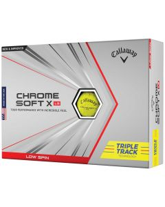 Callaway Chrome Soft X LS Triple Track Yellow Golf Balls